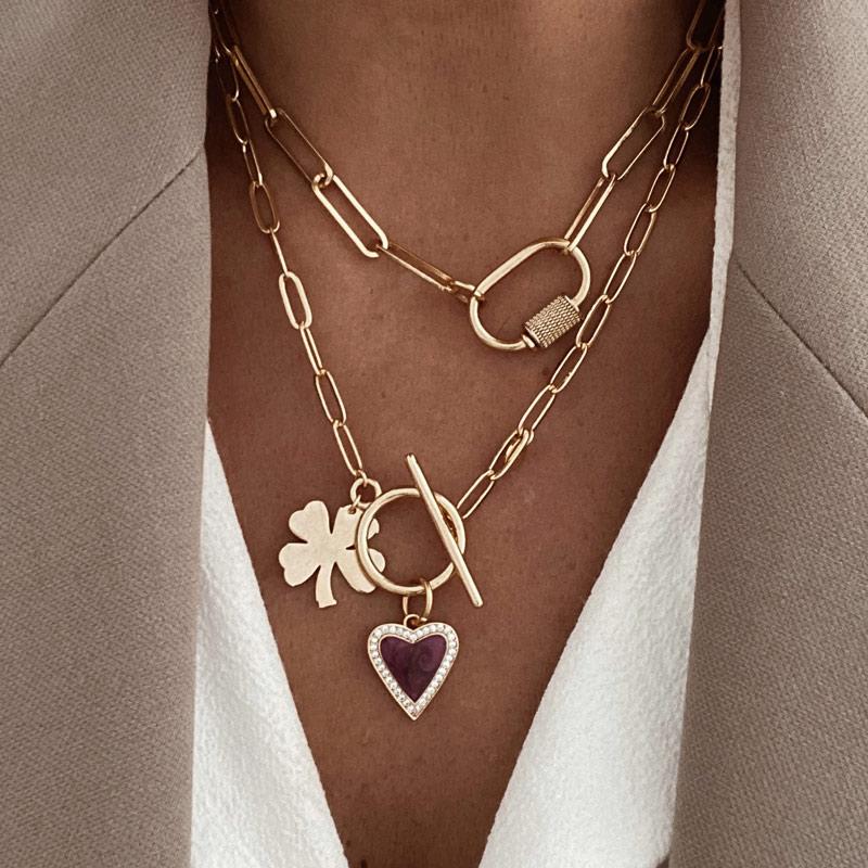 collares vania y lucky love corazon trebol